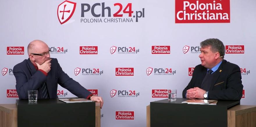 Jerzy Wolak i Sławomir Skiba w studiu PCh24TV